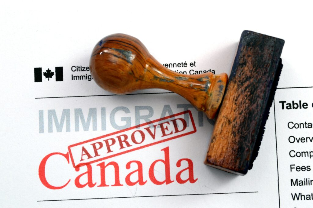 Approved Canadian Visa with stamp