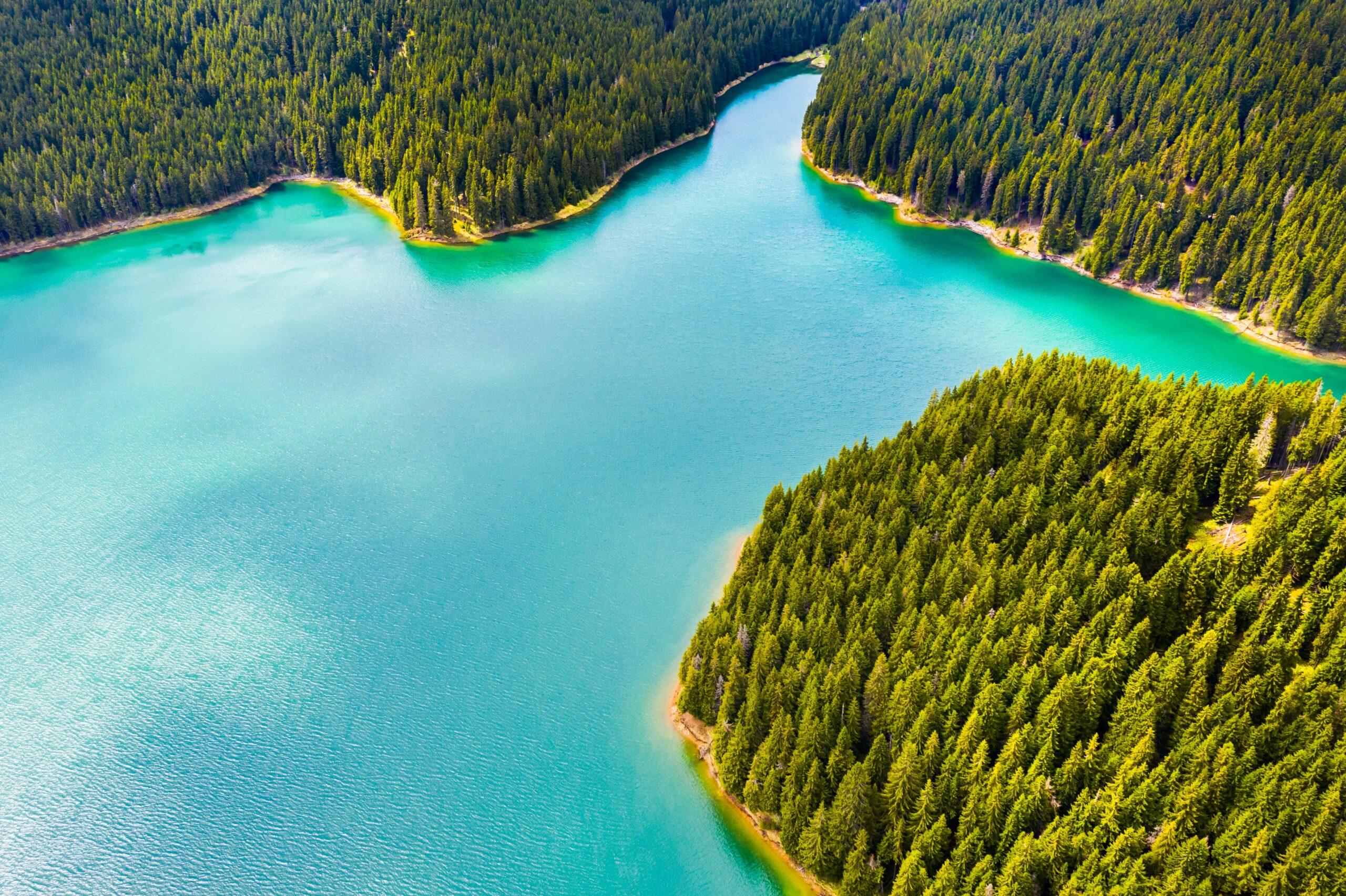 Fresh water lake in Canada