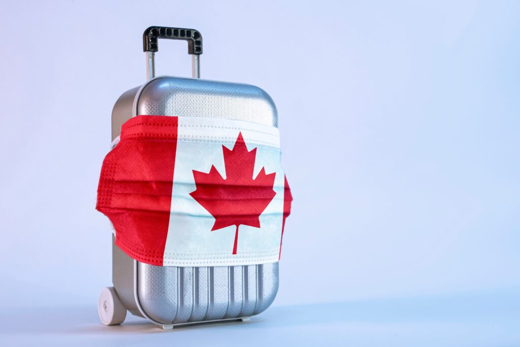 Canada Covid-19 suitcase with mask