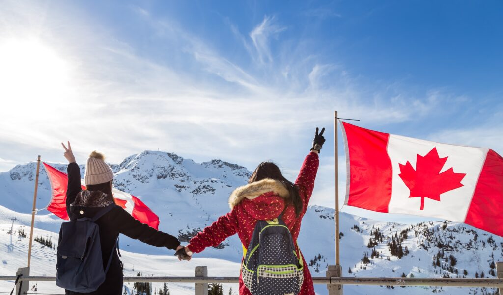 Two women together at Whistler, Canada