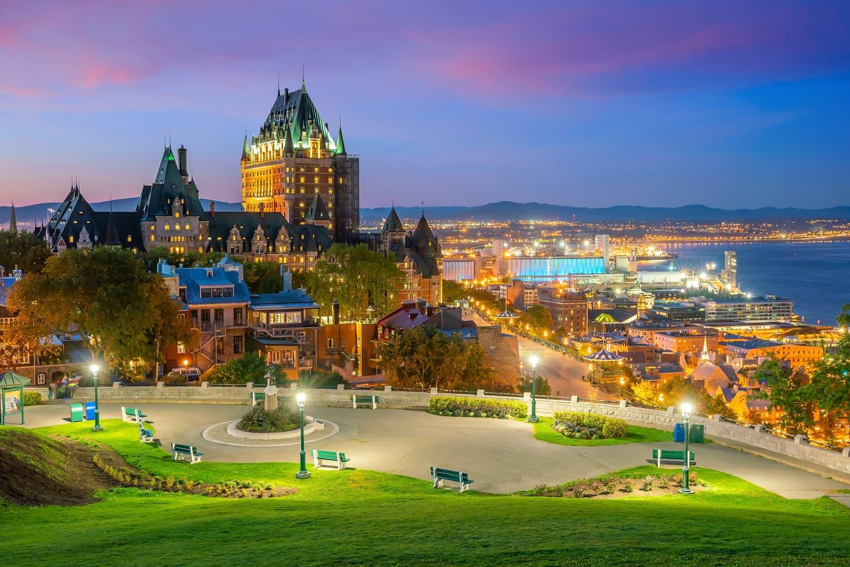 Quebec City Canada nighttime