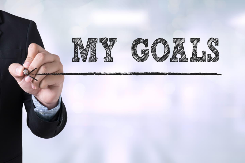 Man writes my goals headline