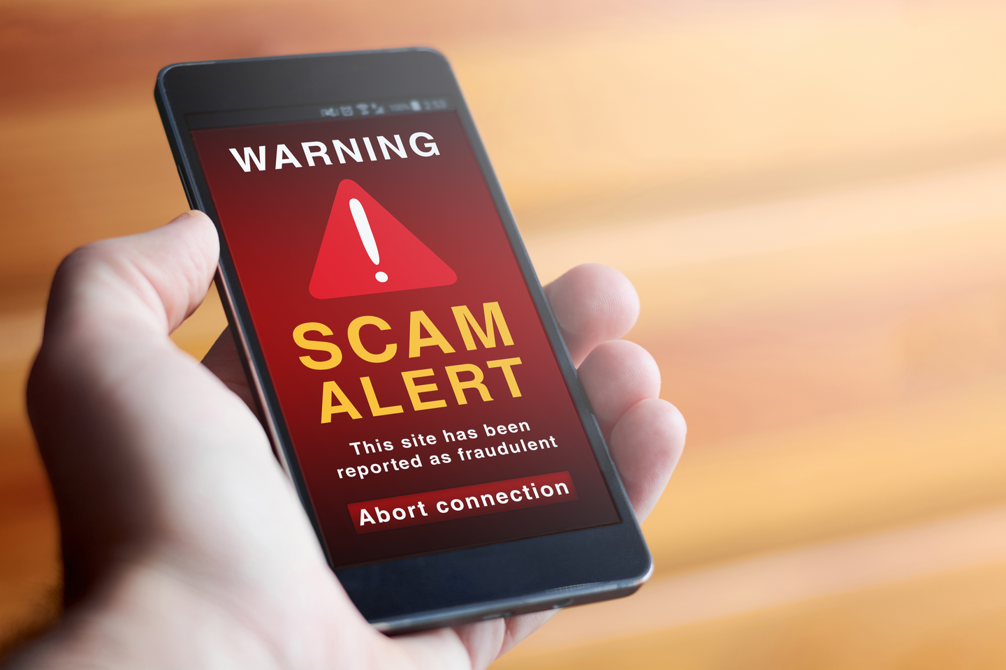 Scam alerts on cellphone