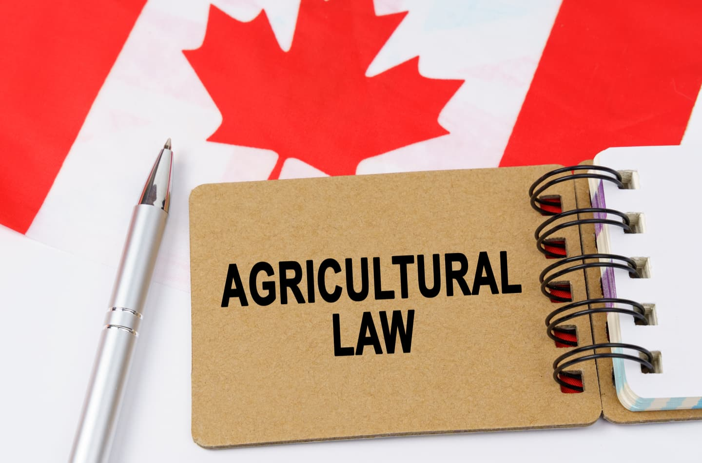 Agricultural Law on Canadian flag background