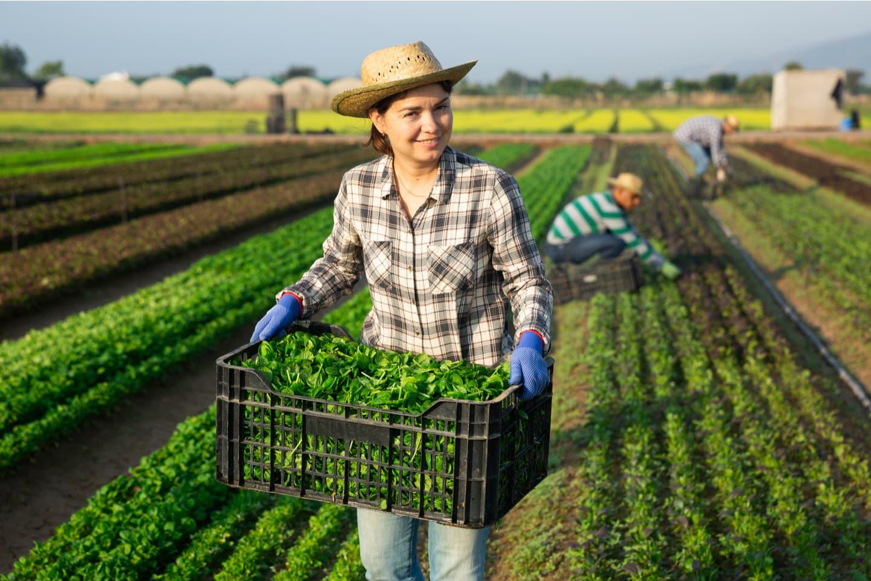 Farmer Woman Smiling at Camera