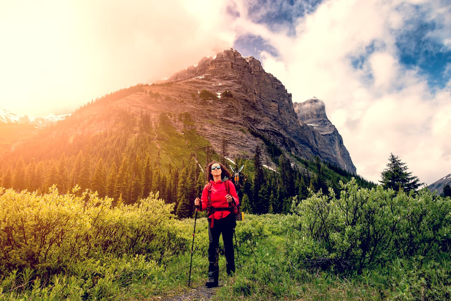 Hiker in the Canadian Rockies